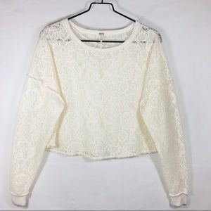 Free People Crop Open Knit Sweater.